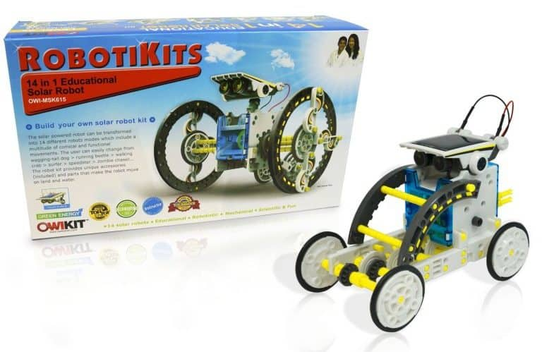 This innovative kit is great for teaching kids about robotics and renewable energy