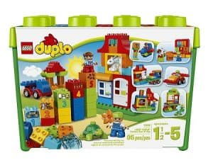 Duplo is a classic STEM toy for toddlers to learn construction