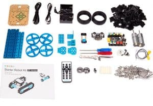 The components of the makeblock set