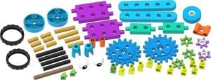 The components of the robot engineer kit for preschoolers
