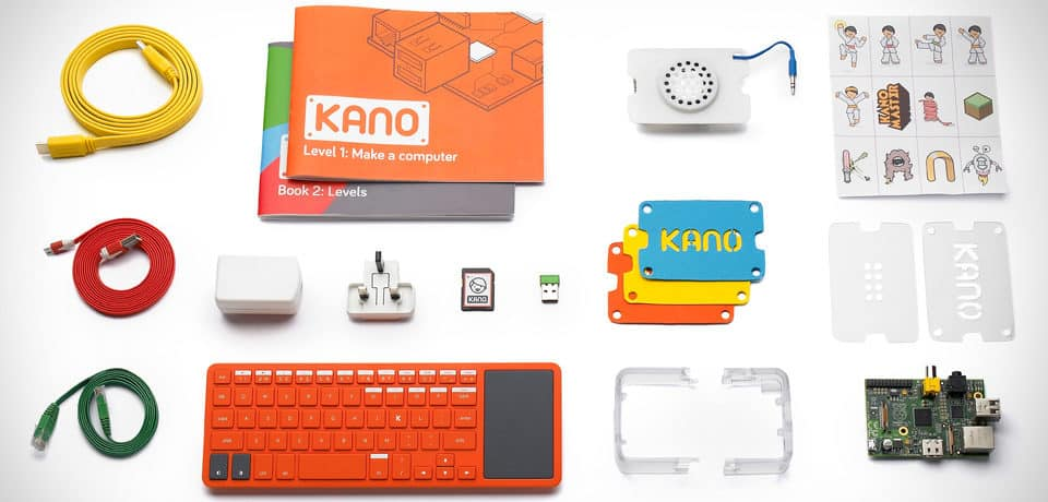 The components of the kano computer kit