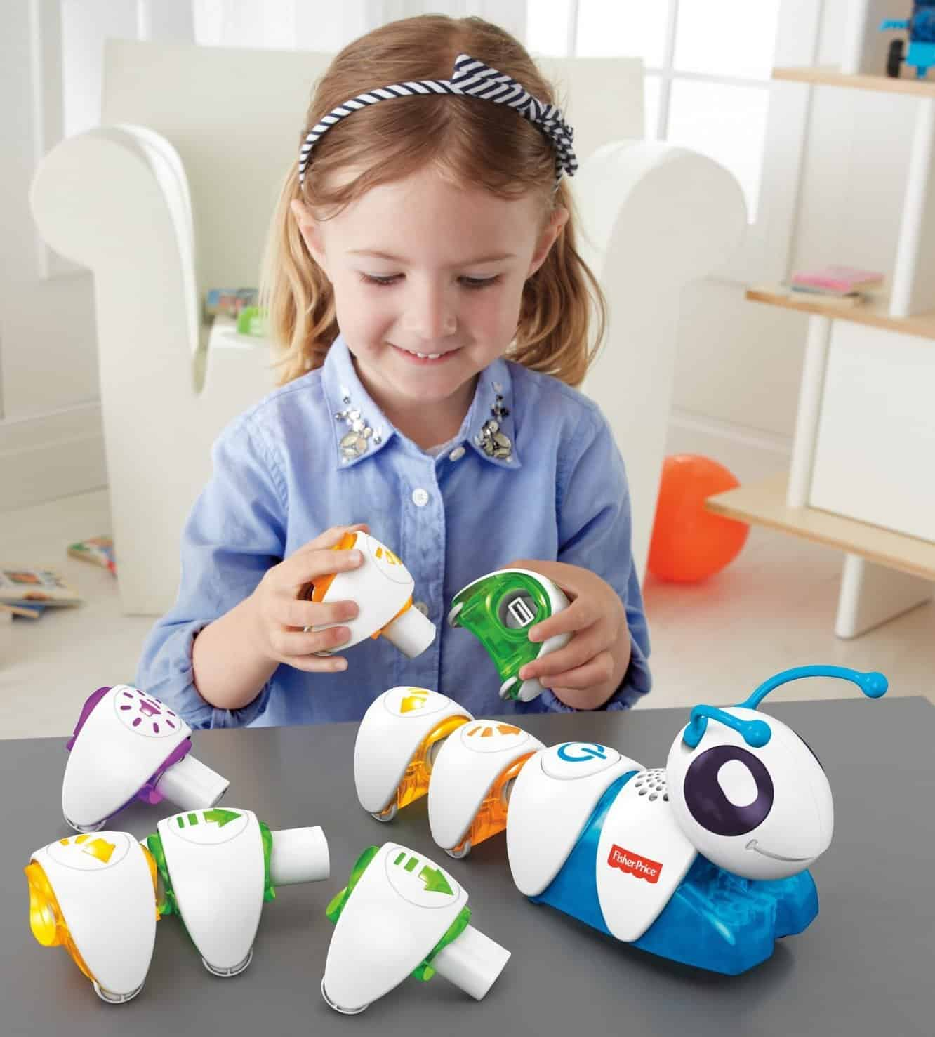 Fisher prices Code-A-Pillar is one of the best stem toys for coding and programming for preschoolers