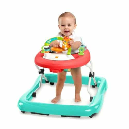 The bright starts walker is a stem toy for developing motor skills