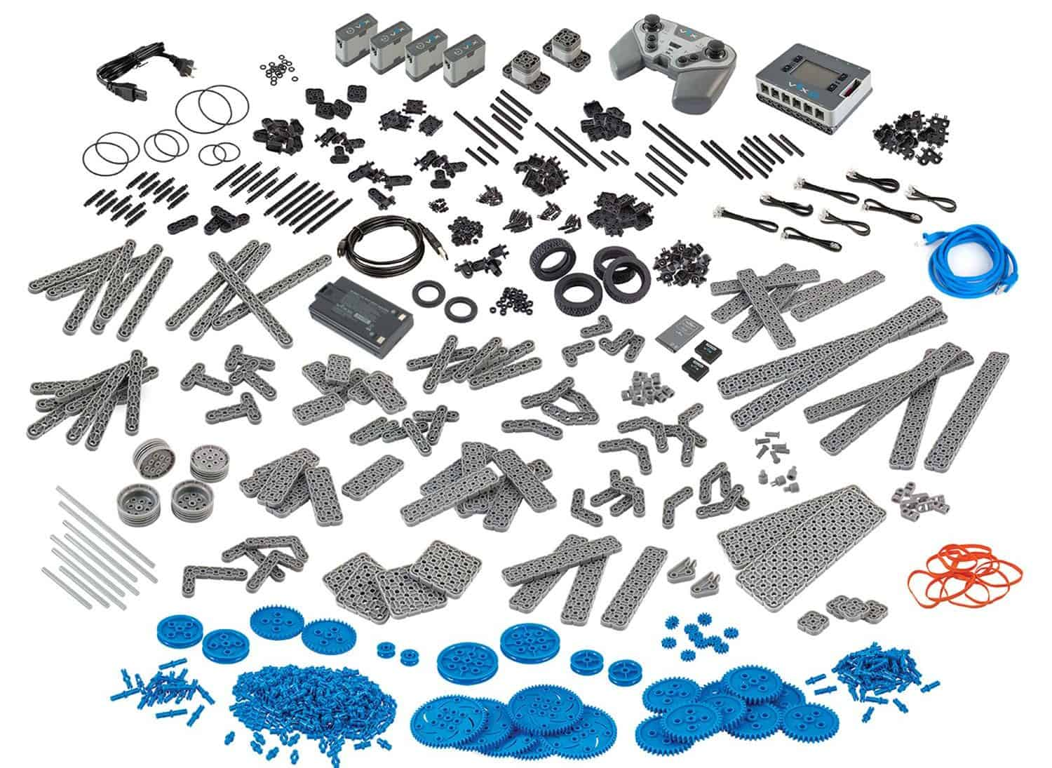 the vex iq robotics kit components