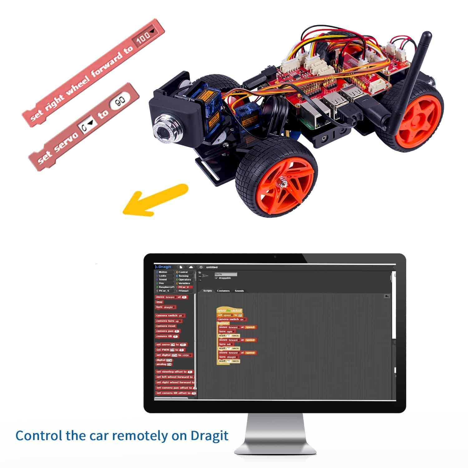 Programming the car with dragit or python