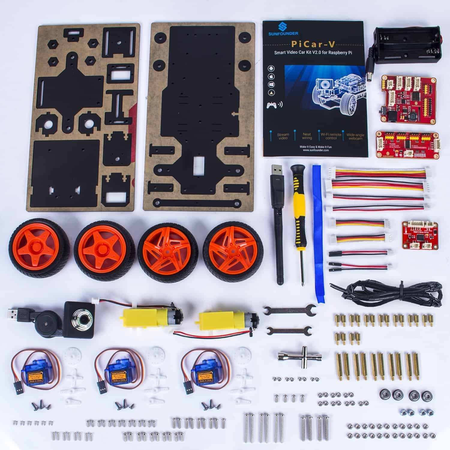 The sunfounder car components