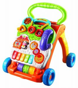 VTechs walker is a great stem toy for babies to develop gross and fine motor skills