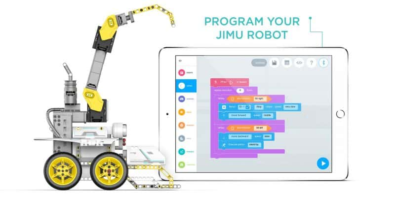 Learning to code UBTECH Jimu robots with Blockly