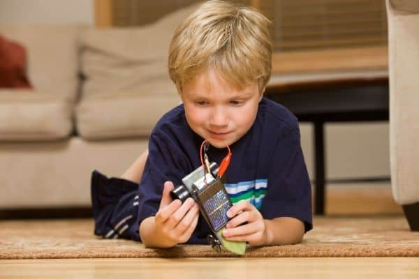 Child holding a solar toy