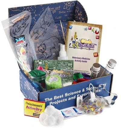 Club SciKidz Labs monthly science subscription box