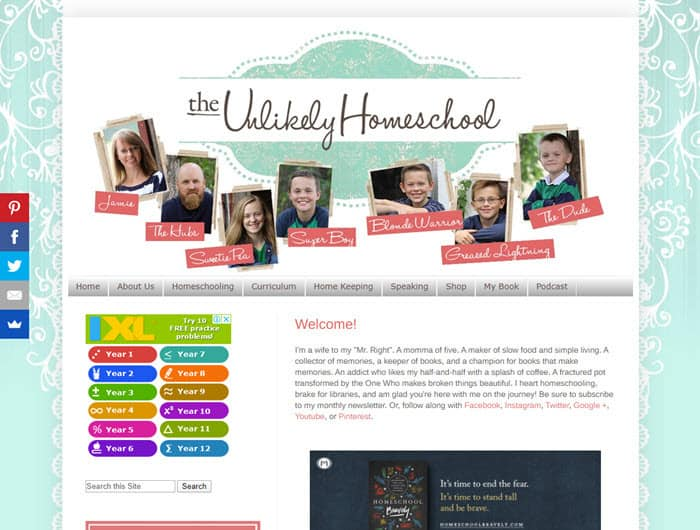 A great Homeschool blog to read during lockdown - The Unlikely Homeschool