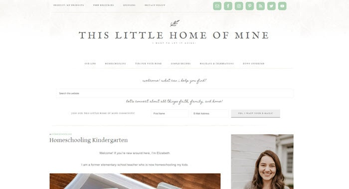 Kindergarten homeschool blog - This Little Home of Mine
