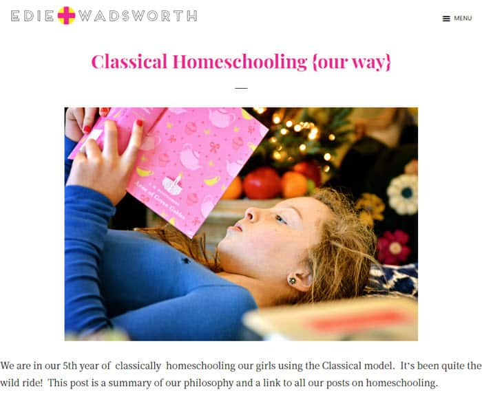 Life in Grace - a Homeschool Blog withj classical strtegies