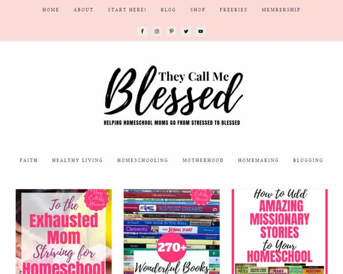 One of the best Christian Homeschool Blogs - They Call Me Blessed