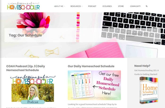 One of the best traditional homeschool blogs - Confessions of a Homeschooler
