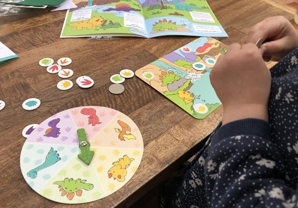 Reviewing a Koala Crate dinosaur matching game