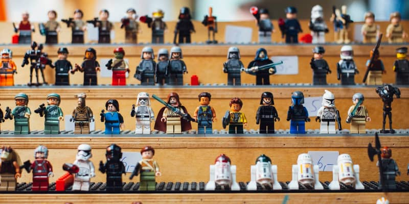 rows of LEGO Star Wars collection