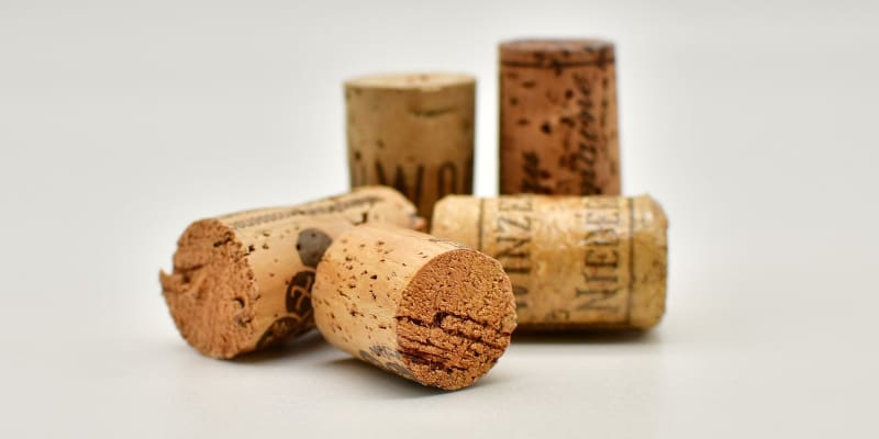 A number of corks to build a cork shooter