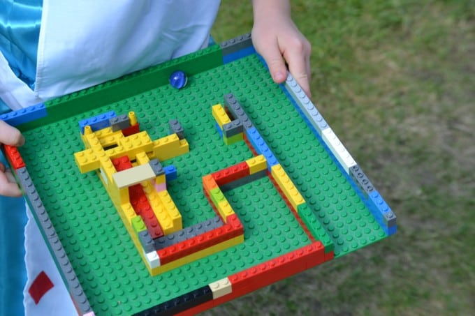 Marble maze with LEGO baseplate