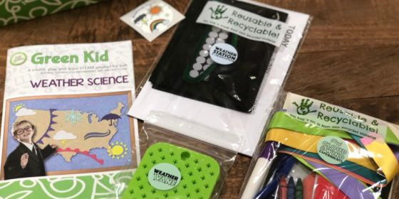 Green Kid Crafts Jr. Box contents