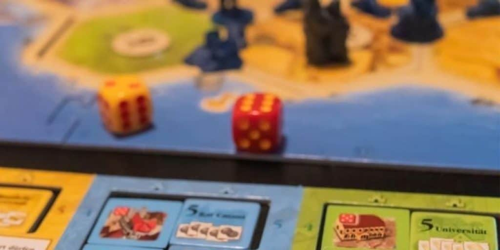 Catan board game with dice