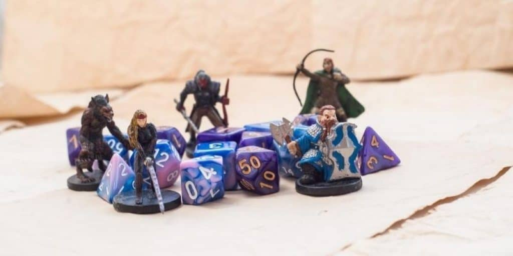 Dungeons and Dragons Characters and Dice