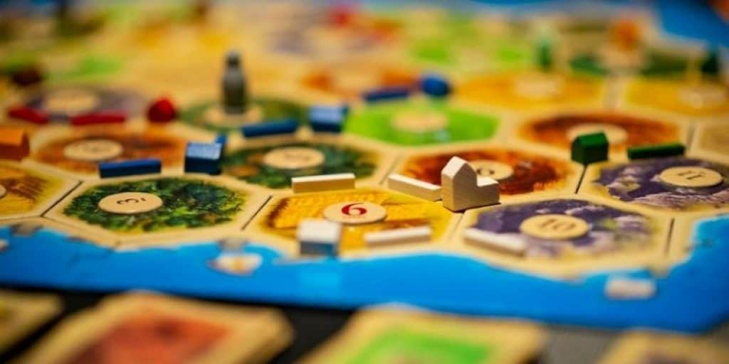 Catan board game with cards