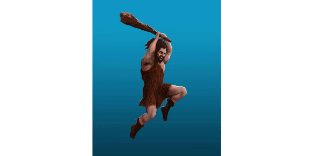 Cave man illustration