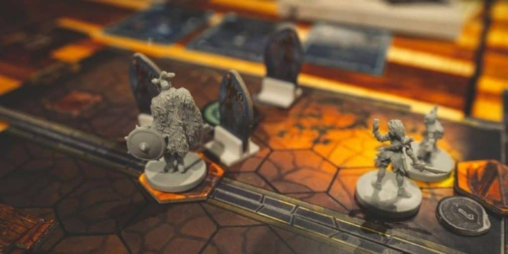 Dungeons and Dragons board game and characters