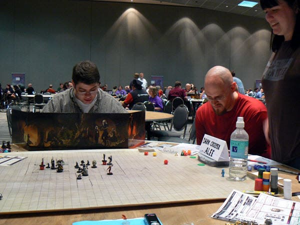 Playing Dungeons and Dragons at an RPG convention.