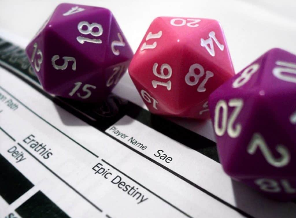 DnD dice and gameplay