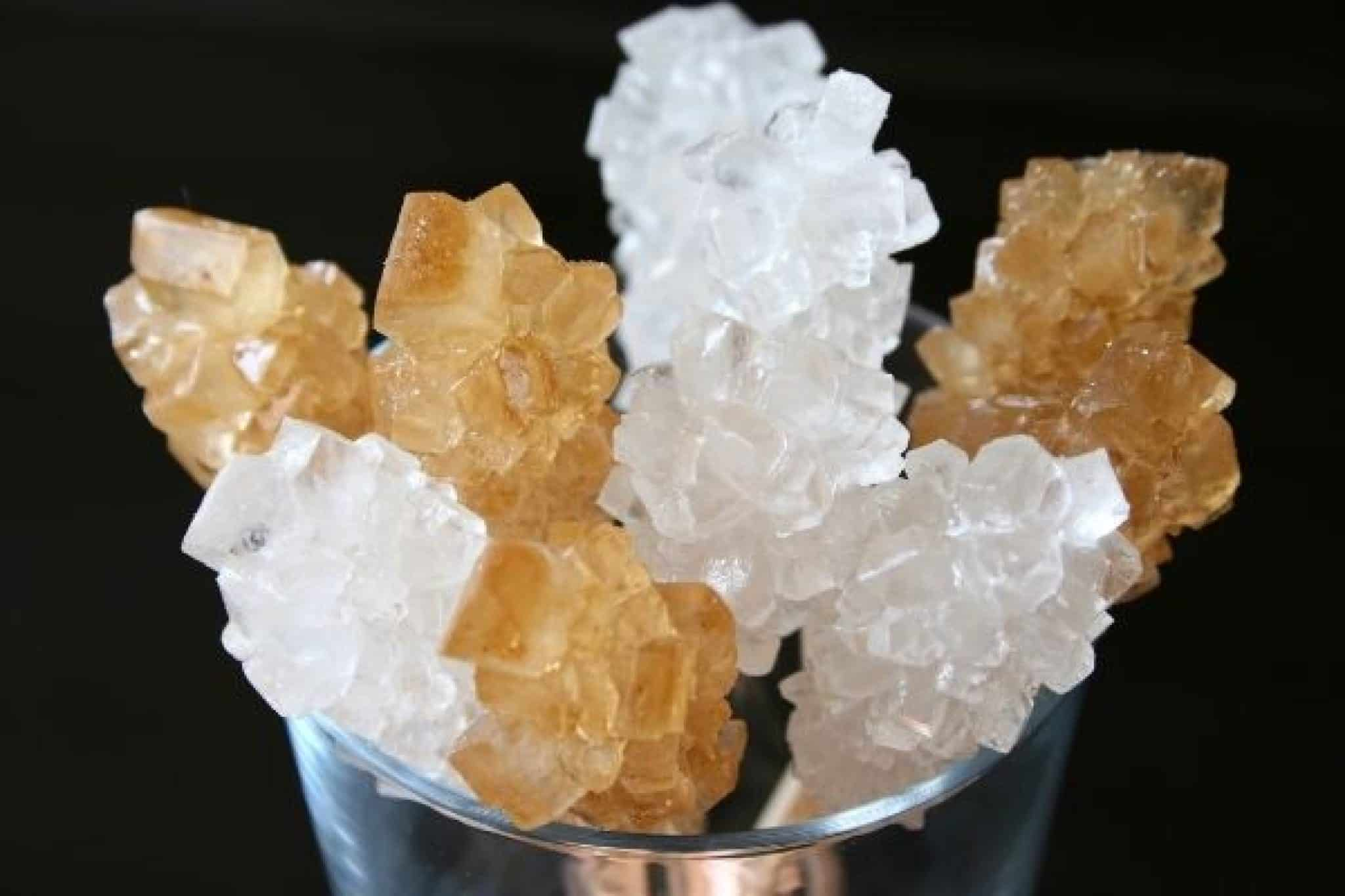 Growing sugar crystals