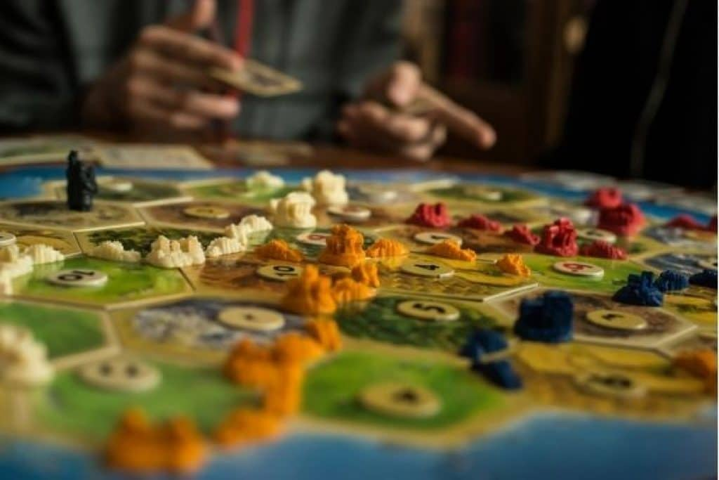 Catan board game player interaction