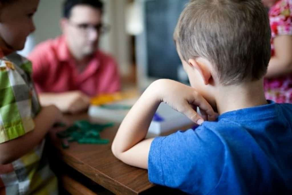 Family playtime using board game