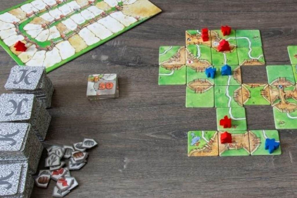 Carcassonne tiles and cards