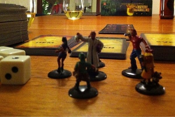 Betrayal at House on the Hill table set up