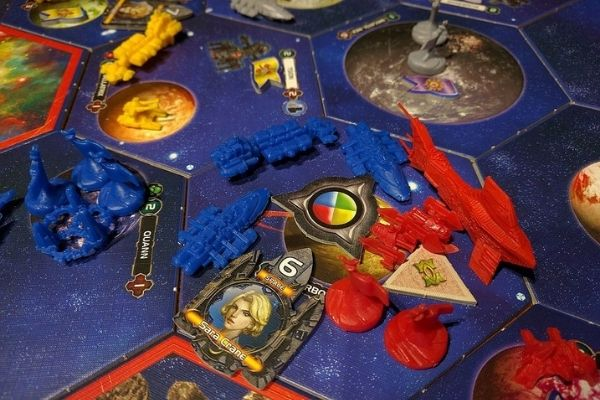 Close up photo of Twilight Imperium 3rd edition board game