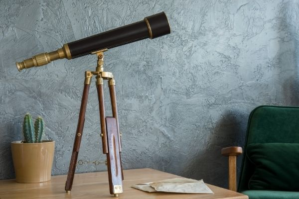 Tabletop telescope at home