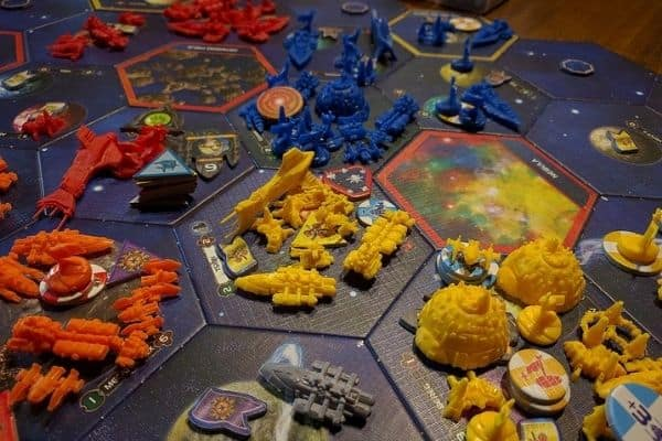 Twilight Imperium board game close up shot