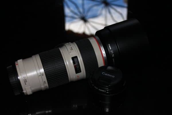 Large Canon lens