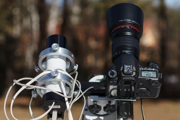 DSLR camera and telescope for astrophotography