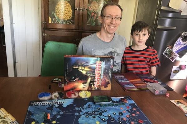 Pandemic is perfect as a family board game
