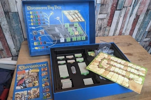 Carcassonne Big Box Board game unboxed