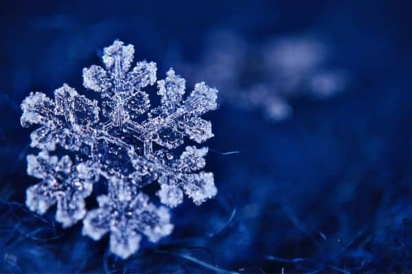 Snowflake on dark background