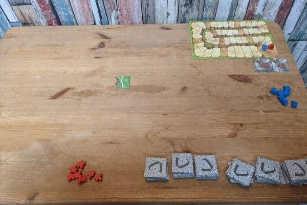 Setting up Carcassonne board game