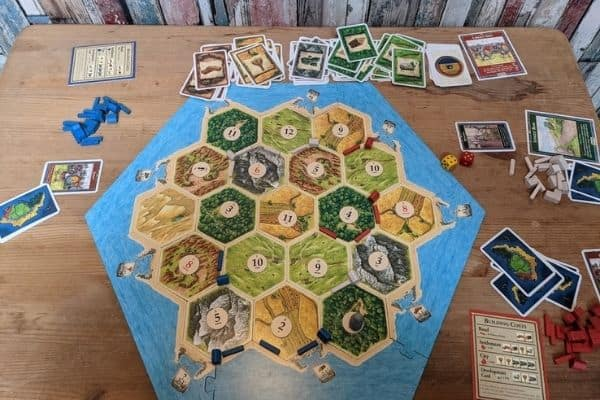 Playing Settlers of Catan board game